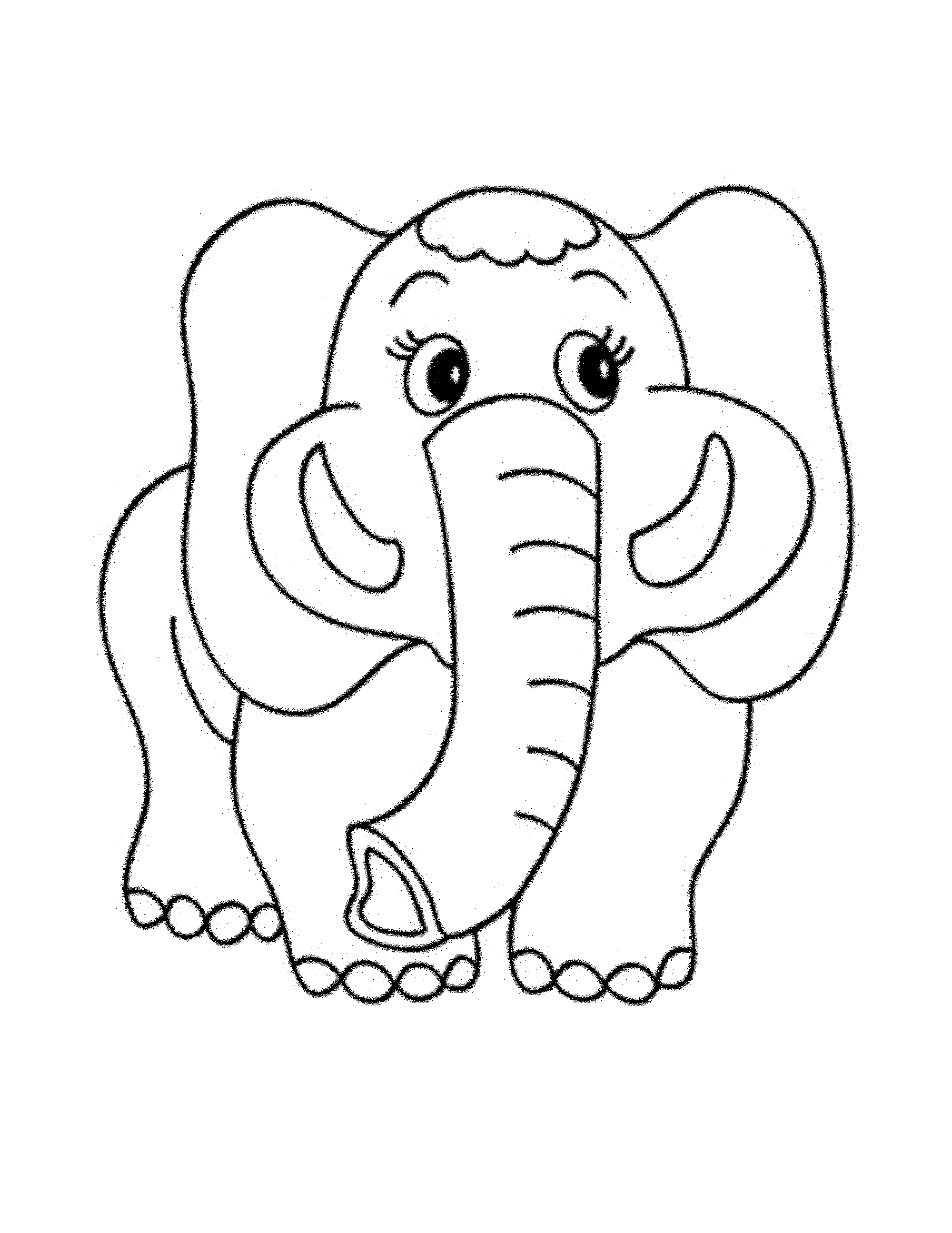 Free Elephant Coloring Pages for Adults - Easy Peasy and Fun | 2590x2000
