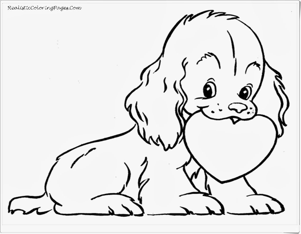 Coloring Pages Girls Puppies Home