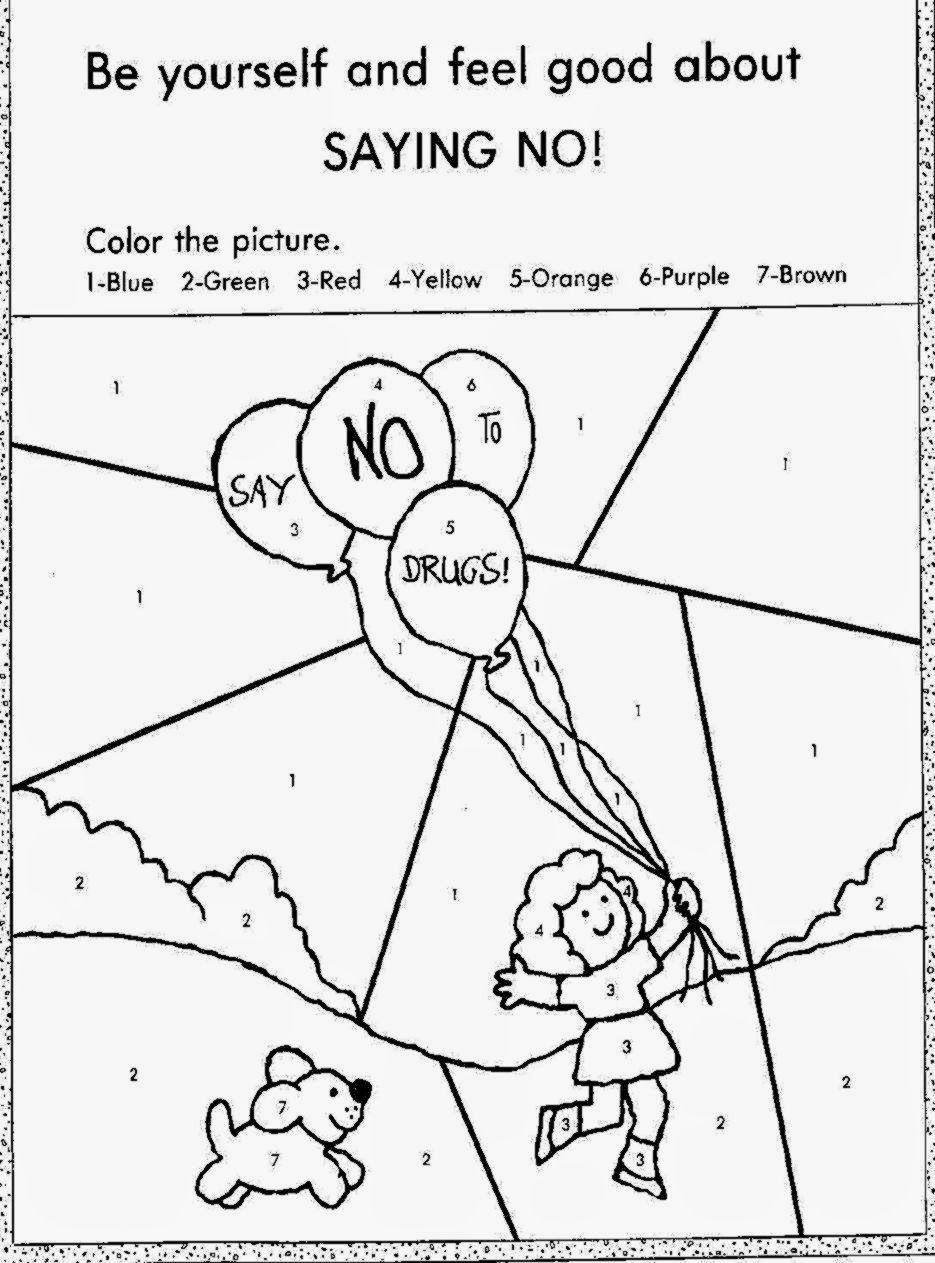 Free coloring pages awareness ribbon - Drug Free Coloring Sheets Free Coloring Sheet