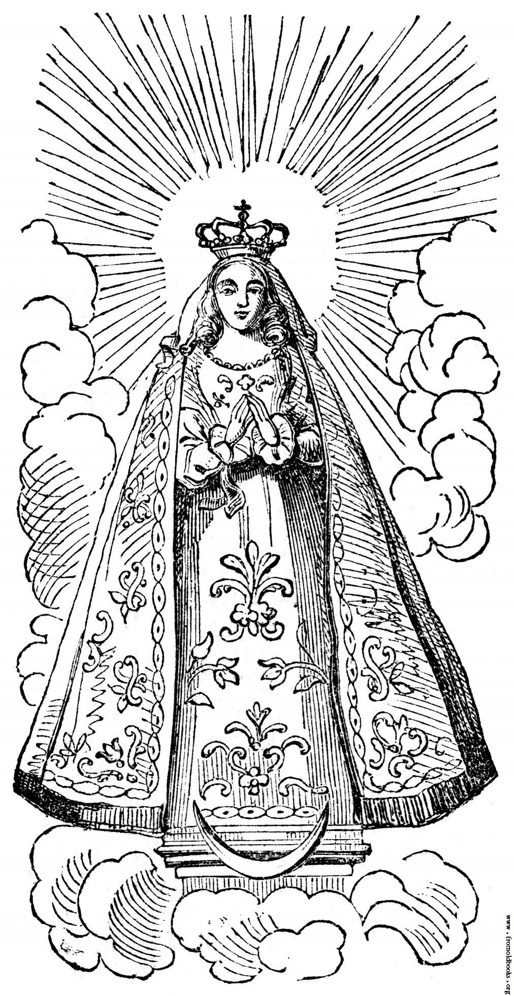 Printable coloring pages virgin mary - Blessed Mother Mary Coloring Pages High Quality Coloring Pages