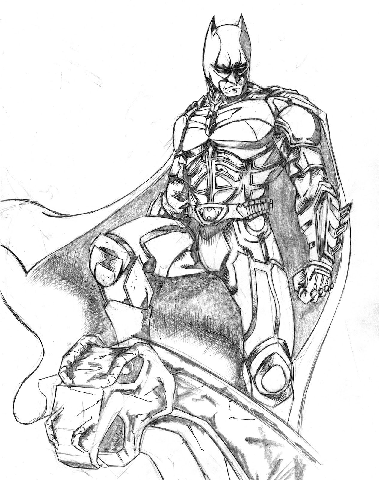 the dark night coloring pages - photo#10