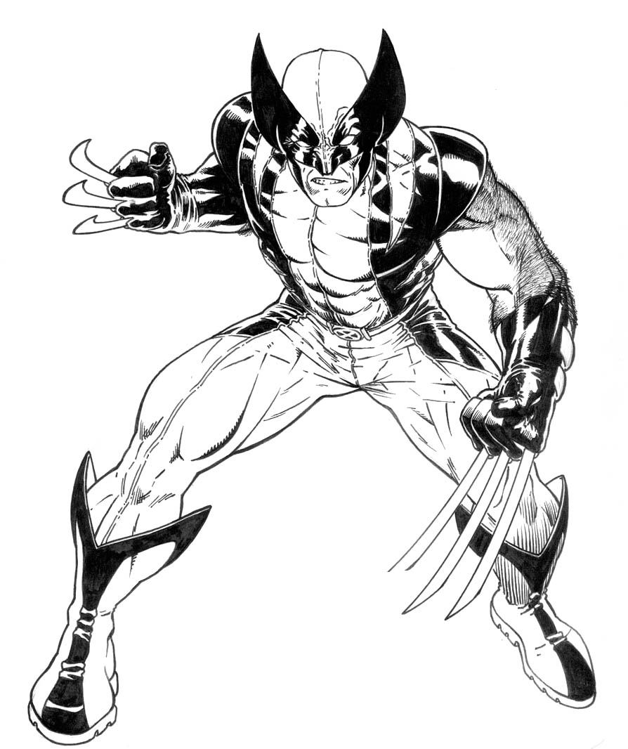 Wolverine coloring pages high quality coloring pages