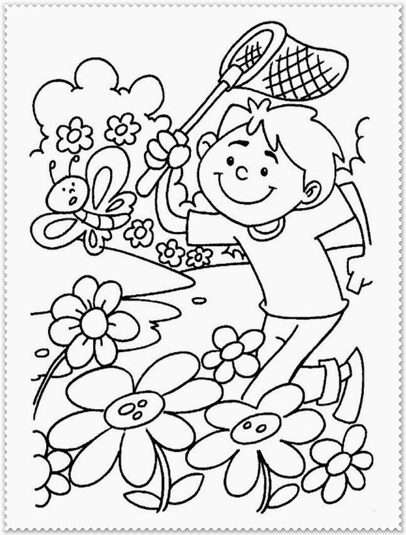 Spring Coloring Pages Printable | Realistic Coloring Pages