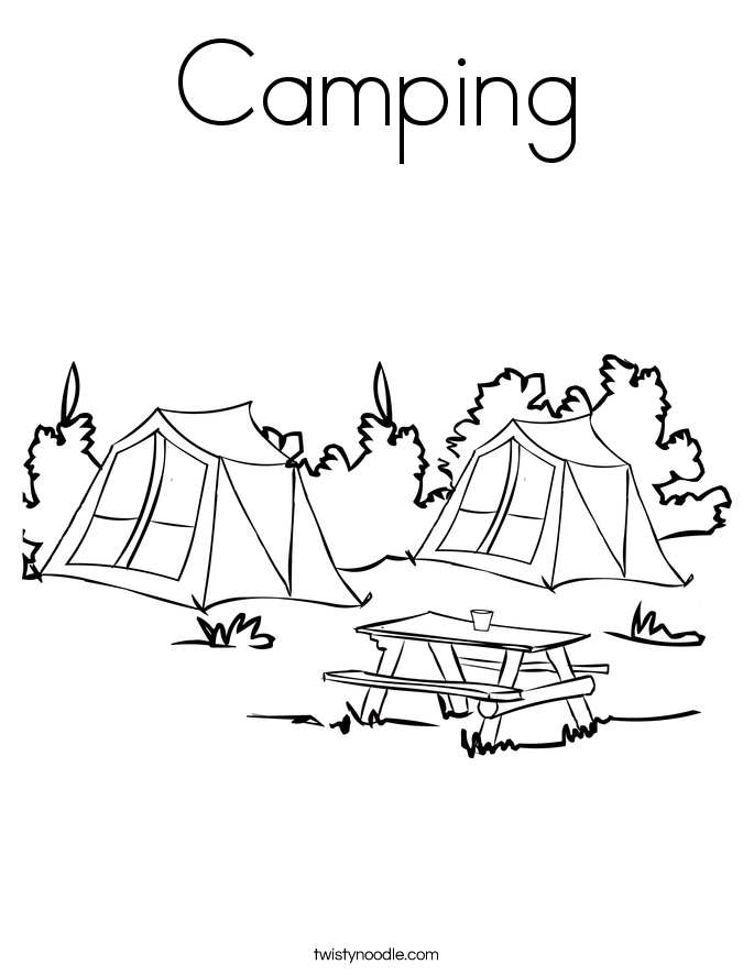 Camping Coloring Pages - Twisty Noodle