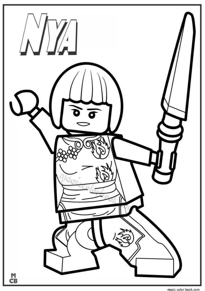 Ninjago Nya Coloring Page - Coloring Home