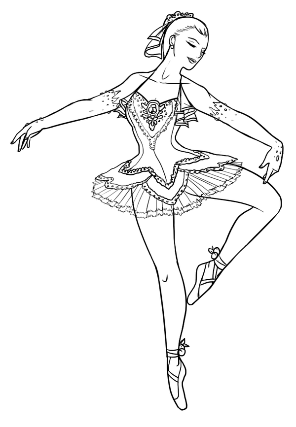Ballerina Coloring Pages Pdf : Pics of fairy ballerina coloring pages