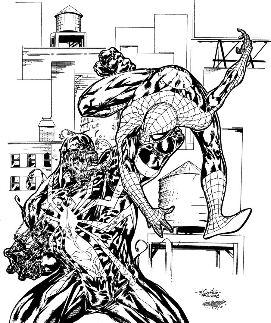 Spiderman And Venom Coloring Pages Free Coloring Home
