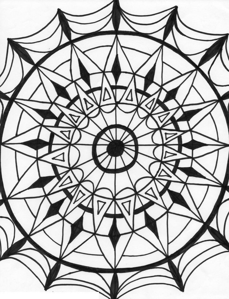 kaleidoscopes coloring pages - photo#37