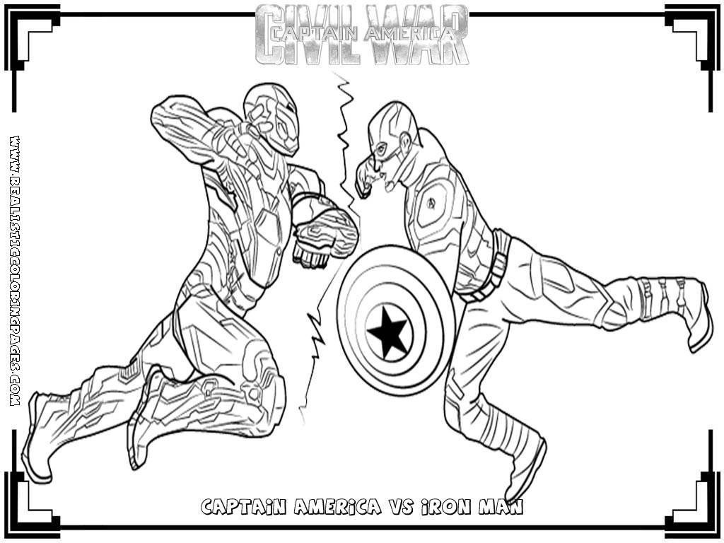 - Captain America Civil War Coloring Pages - Coloring Home