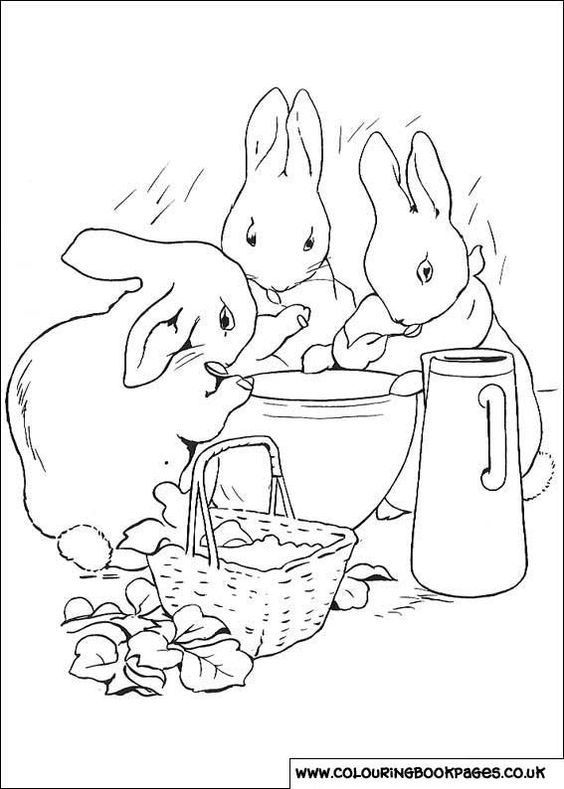 Peter Rabbit - Beatrix Potter Coloring Pages