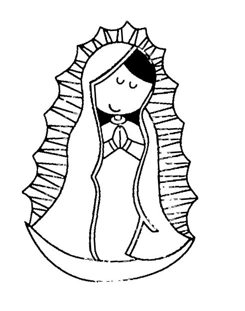 Virgen de guadalupe coloring pages az coloring pages for Virgen de guadalupe coloring pages