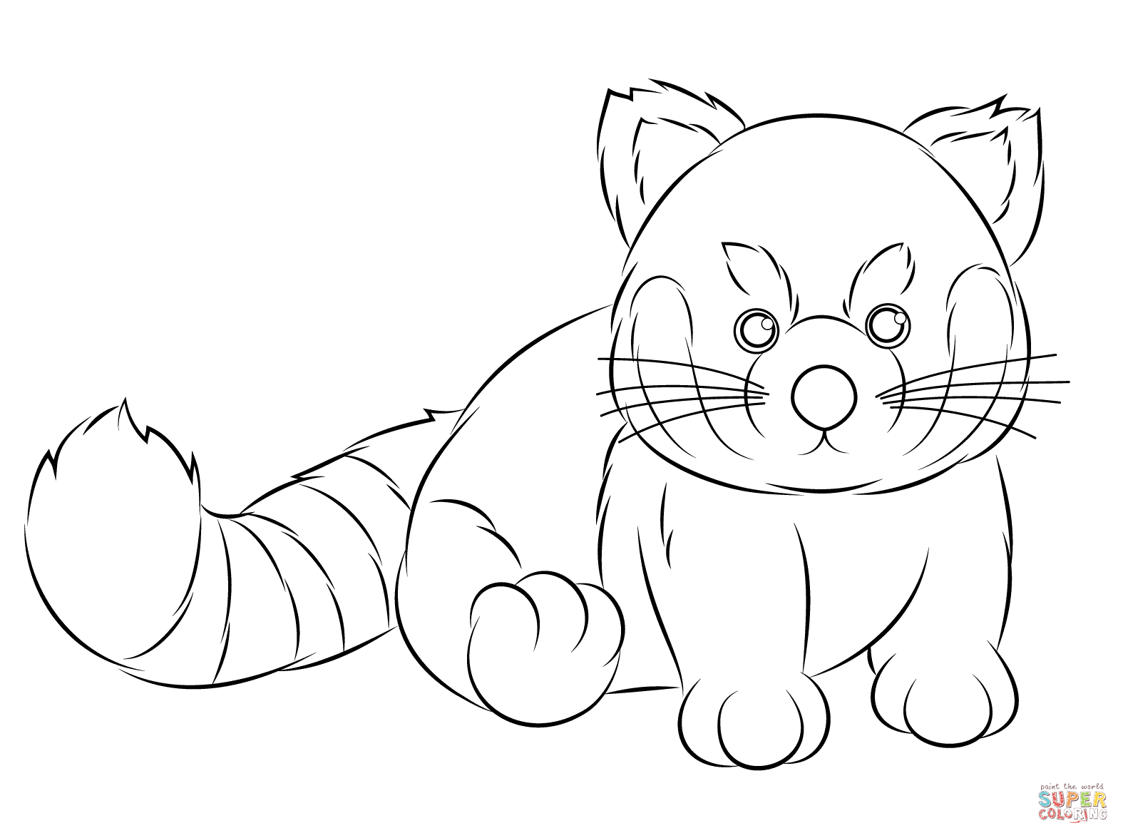 Webkinz Red Panda coloring page