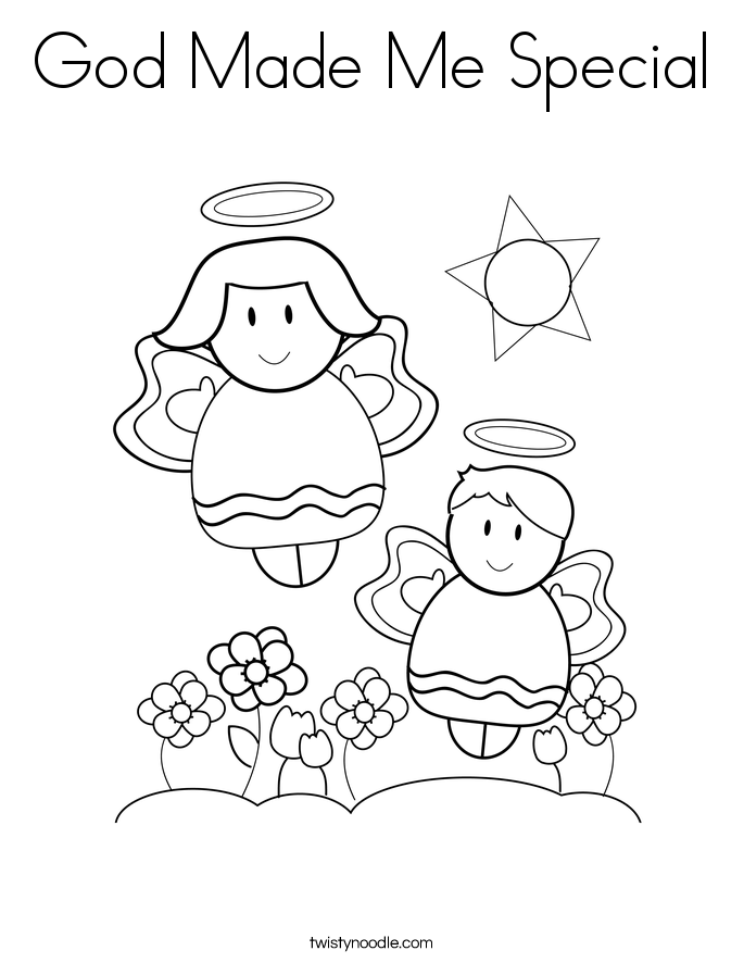 God Made Me Special Coloring Pages - Coloring Home