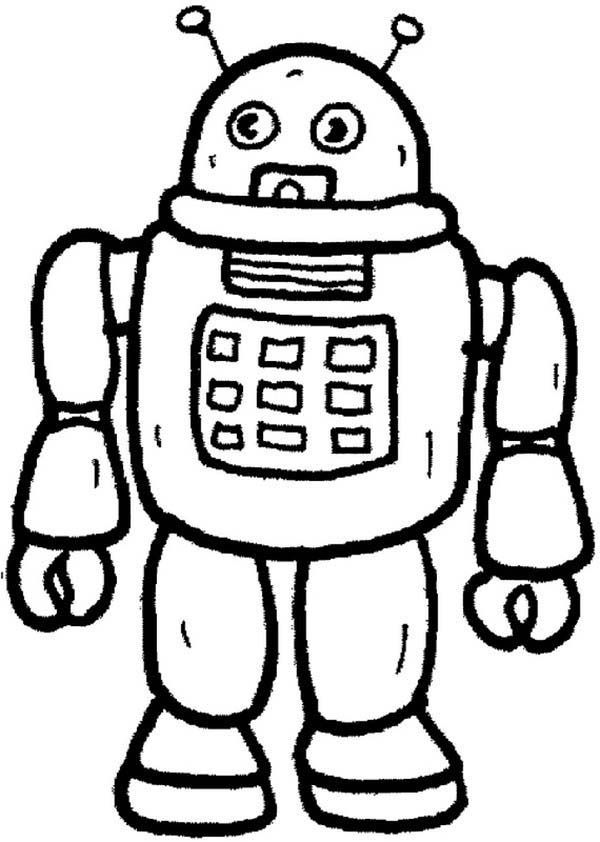 robot from future toys coloring pages robot from future toys - Toy Coloring Pages