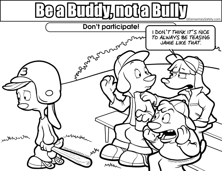 anti bullying coloring page - Bullying Coloring Pages Printable