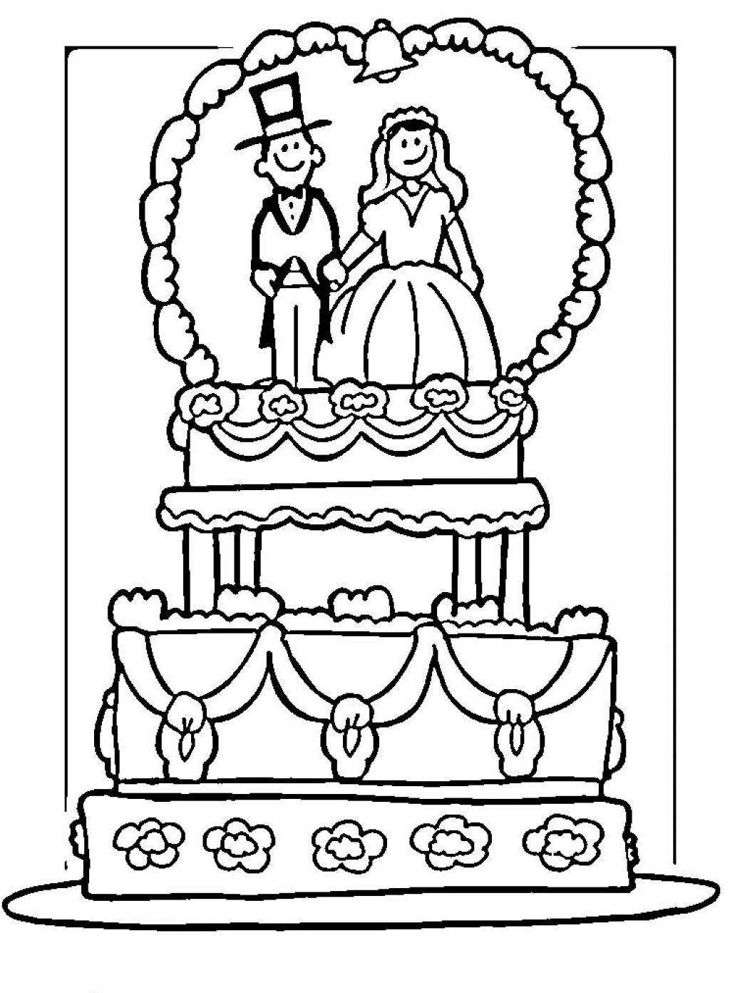 Free coloring pages wedding - Free Coloring Pages For Wedding Cakes Wedding Coloring Pages 03 Precious Moments Wedding Coloring Pages
