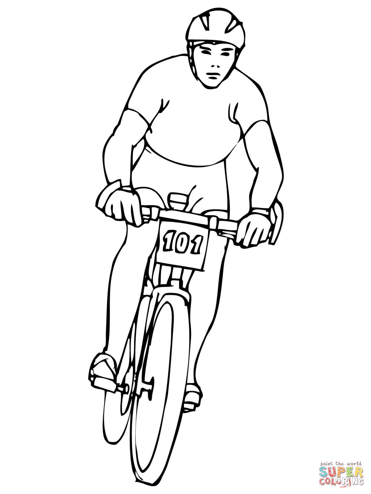 bike riding coloring page coloring home