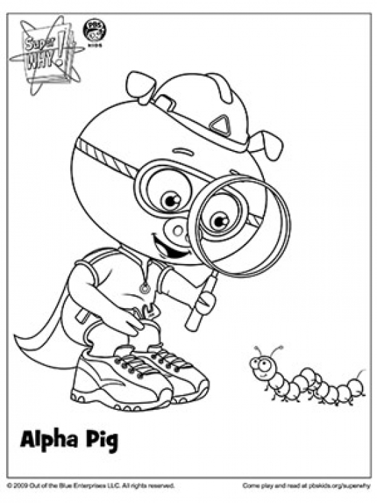 super why printable coloring pages - photo#14