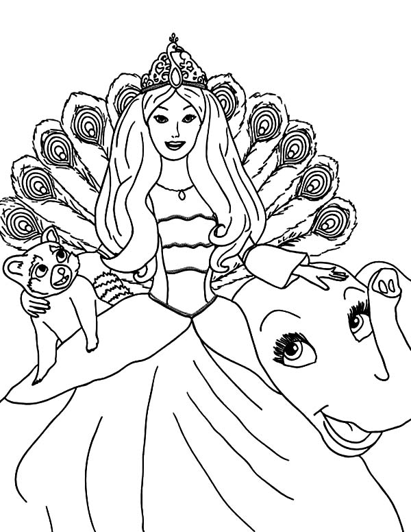 island princess barbie coloring pages - photo#2