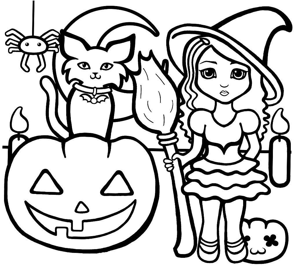 Halloween coloring pages online print coloring home for Halloween pictures to colour in