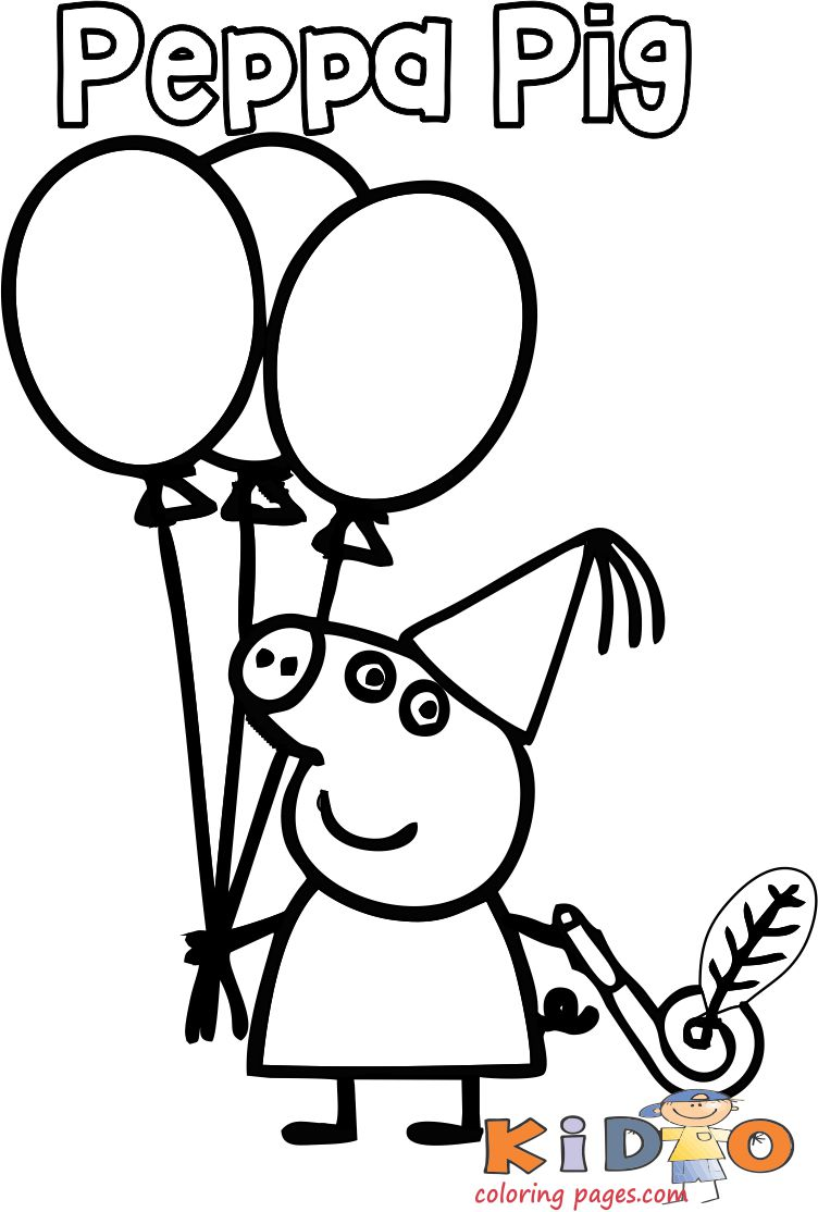 coloring pages : Coloringageseppaig Happy Birthday For Kids Torint  Outdfictures Of And Colour Background Peppa Pig To Print ~  mommaonamissioninc