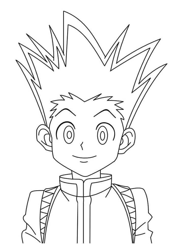 Gon Hunter x Hunter 1 Coloring Page ...coloringonly.com