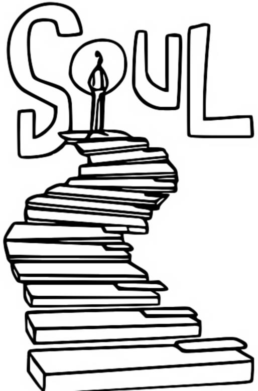 Soul poster coloring page