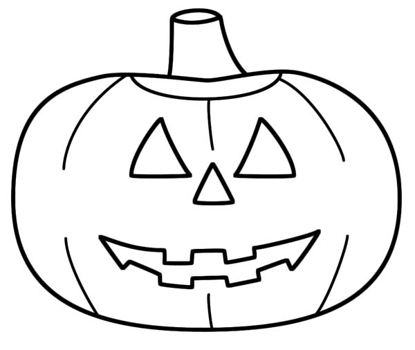 Halloween Jack Olantern Coloring Pages CartoonRockscom