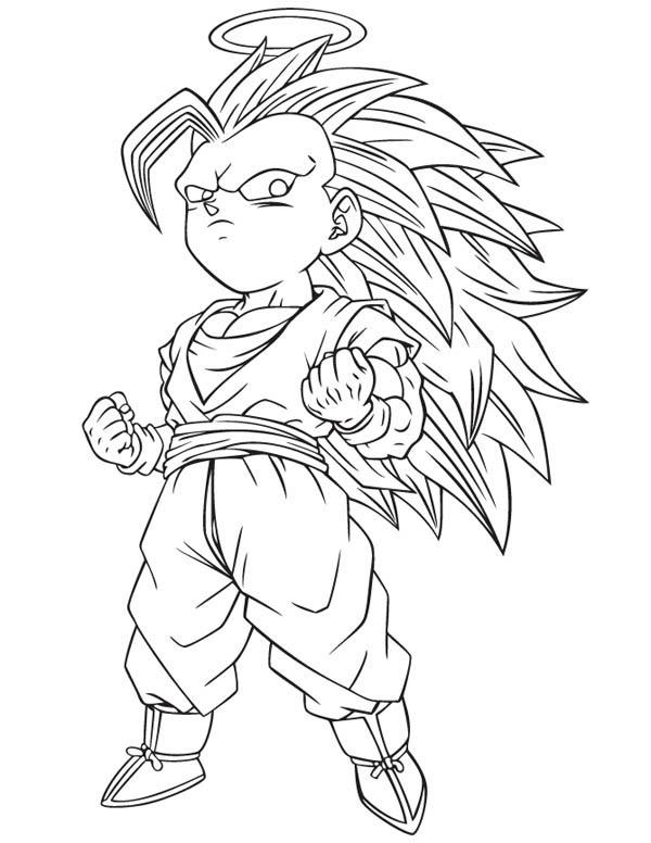 Goku Super Saiyan 2 Coloring Pages Page