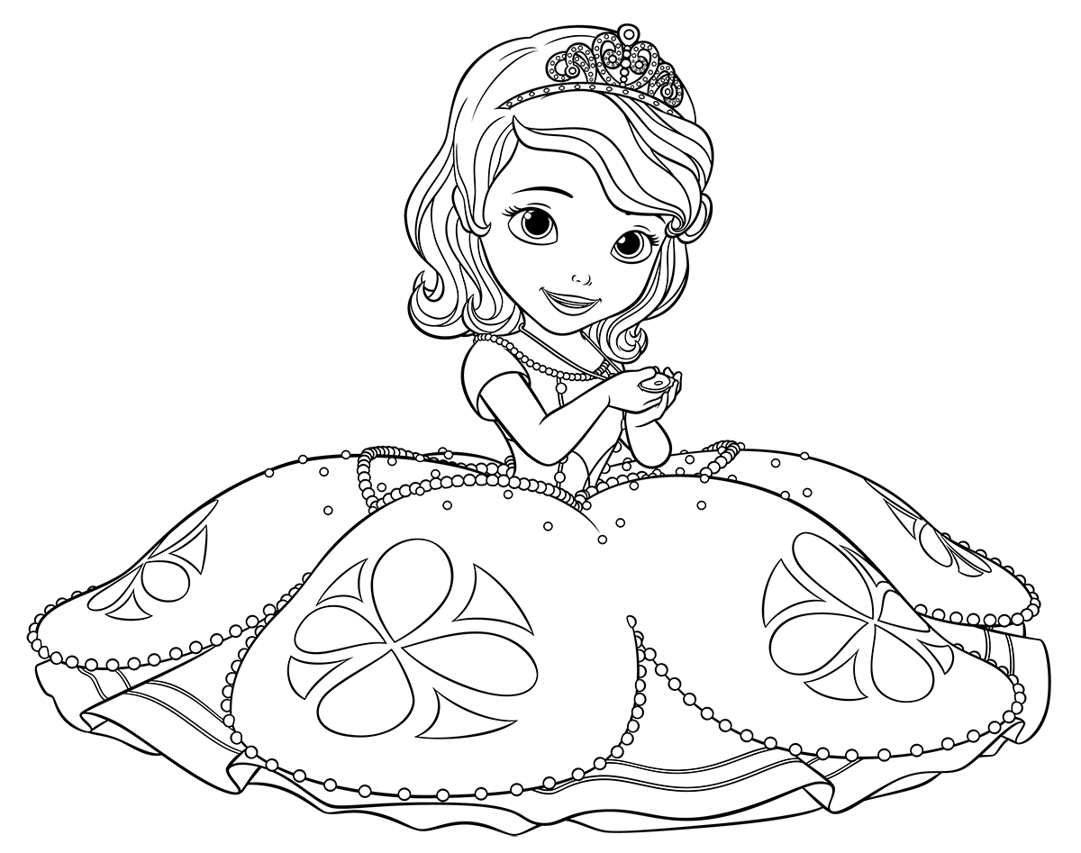 sofia the first printable coloring pages coloring home