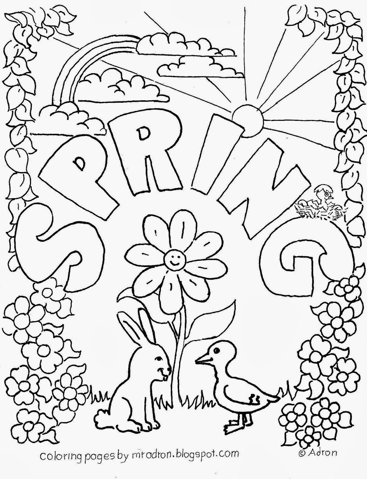 - First Day Of Spring Coloring Pages - Coloring Home