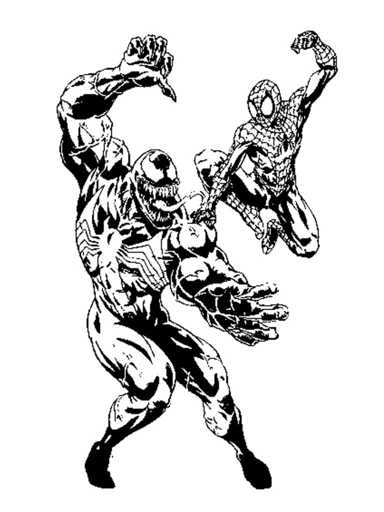 carnage spider man coloring pages - photo#16