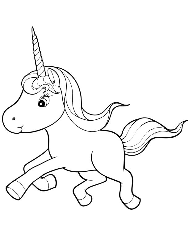Coloring Pages For Unicorns : Unicorn coloring pages for kids home