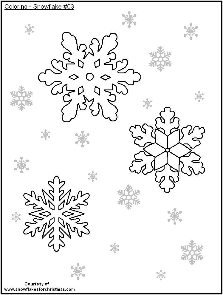 Snowflake Template For Kids Coloring Home