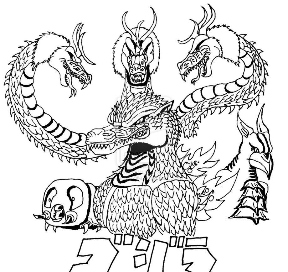 Godzilla Coloring Page 2014