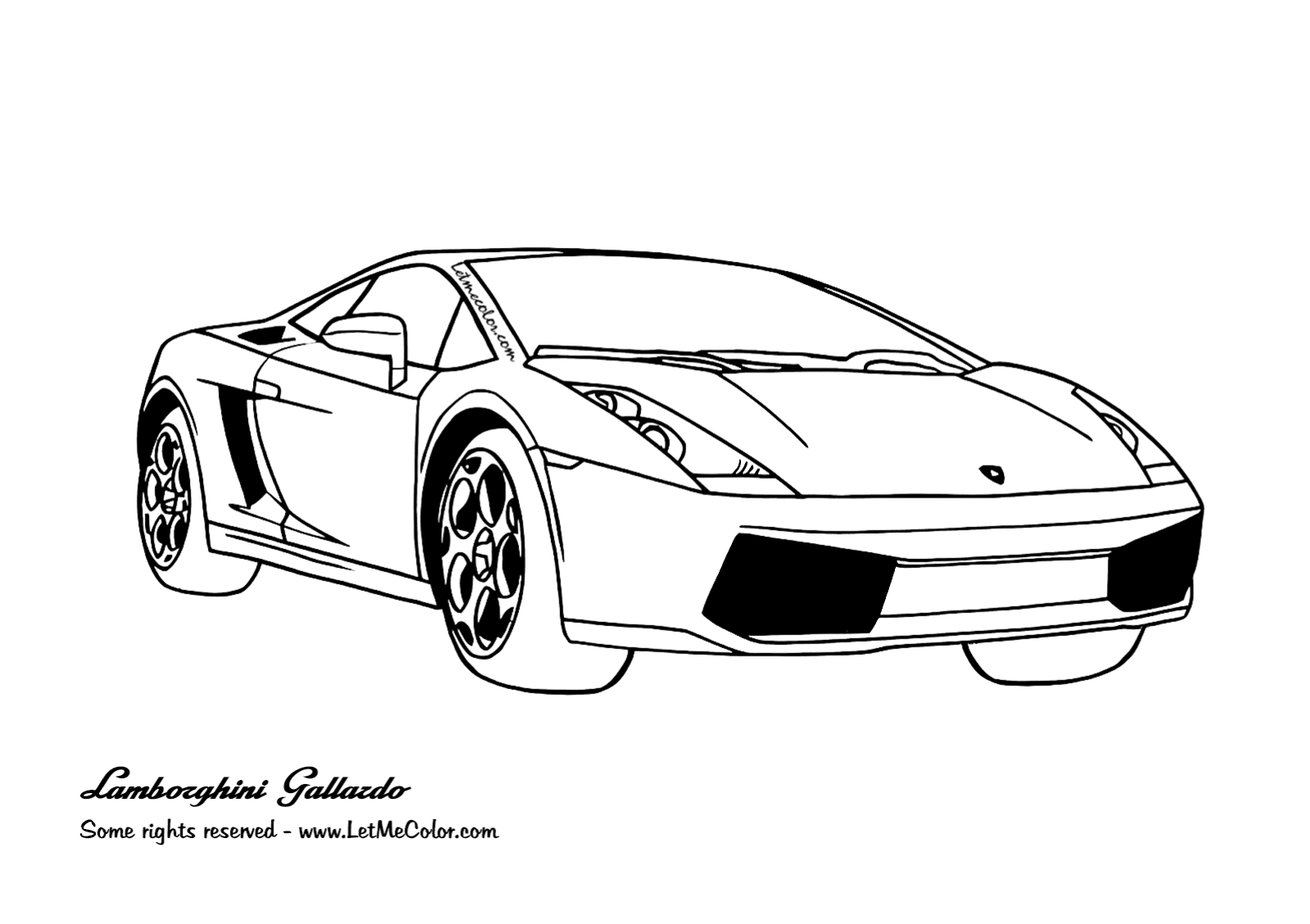 Free Printable Lambo Cars Coloring Pages