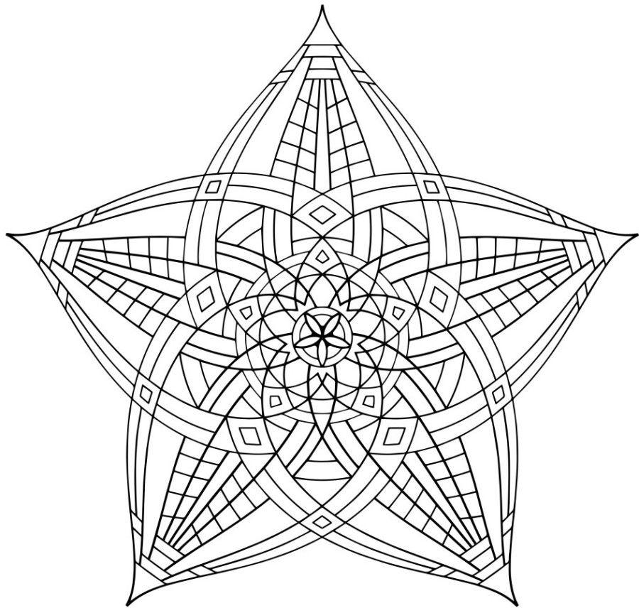Black and white geometric coloring page az coloring pages for Geometric coloring pages free