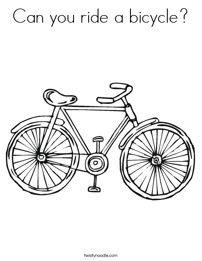 Can you ride a bicycle Coloring Page - Twisty Noodle