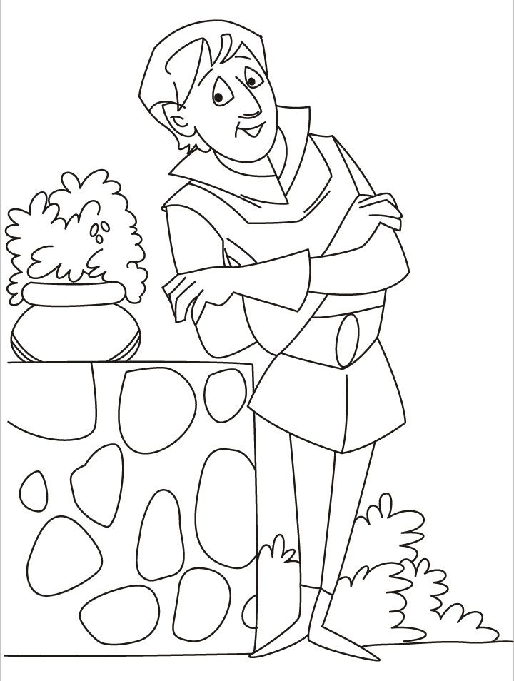 A sad looking prince waiting coloring pages | Download Free A sad ...