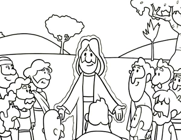 Jesus Teach His Twelve Disciples Coloring Page : Coloring Sun - Coloring  Home