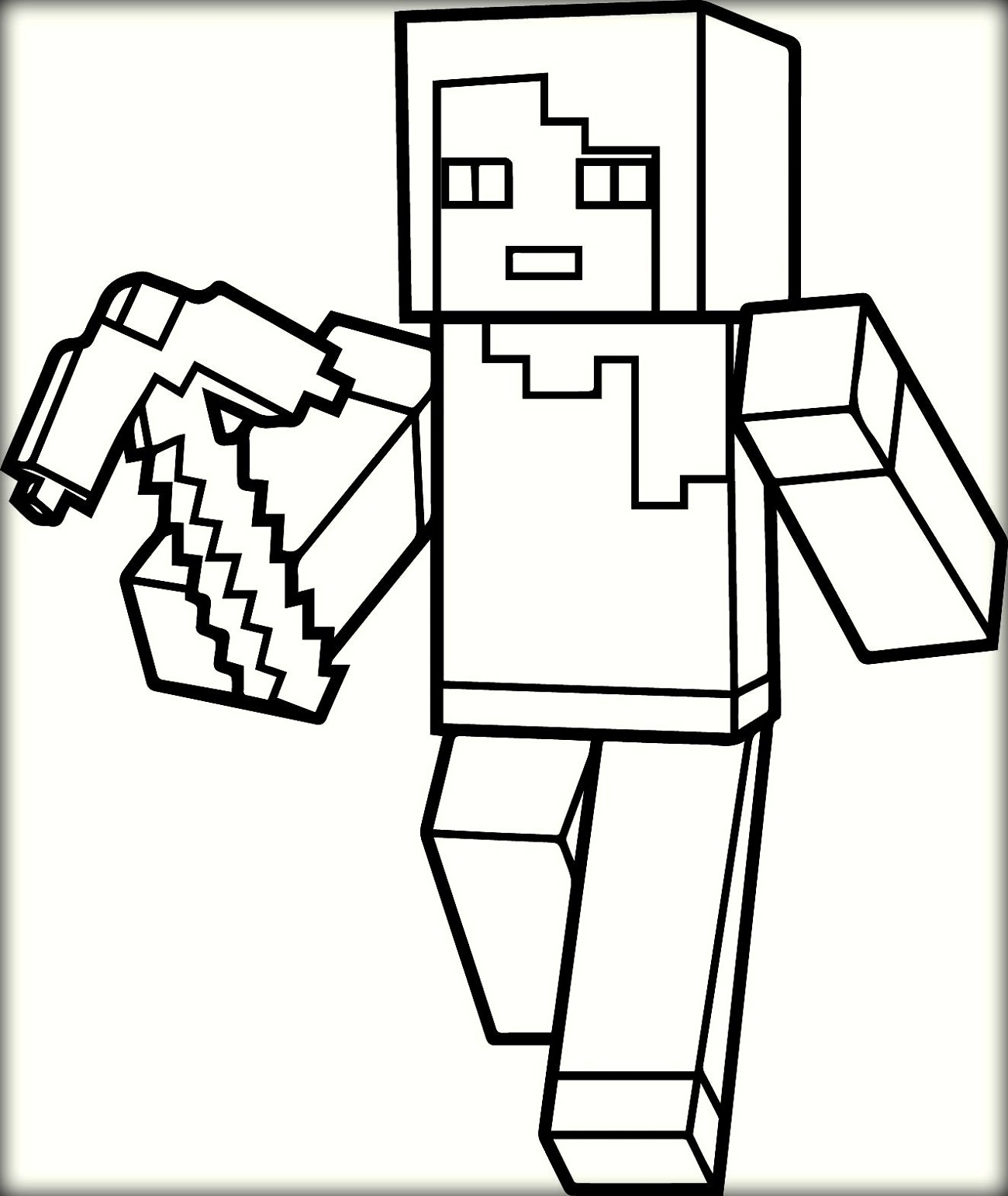 Minecraft Creeper Coloring Pages - Coloring Home