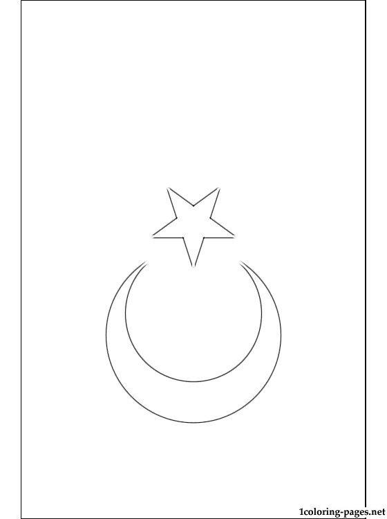 Turkey Flag Coloring Page | Coloring Pages - Coloring Home