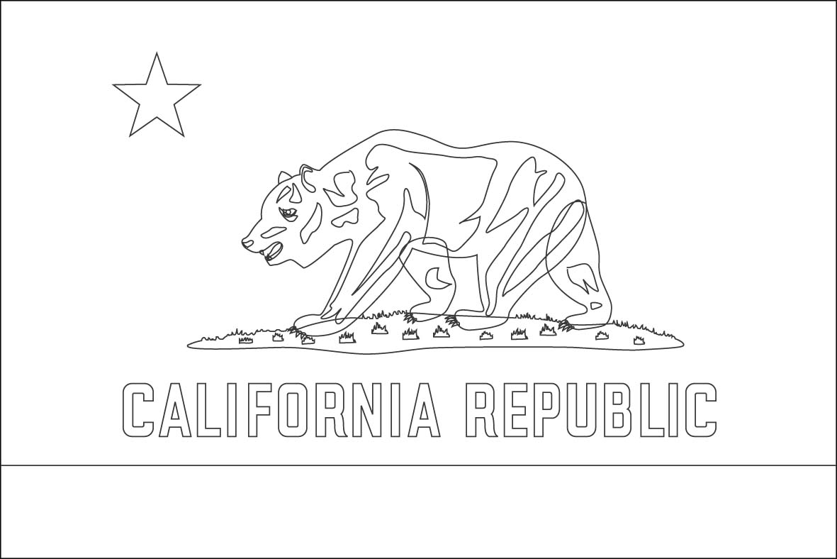 Uncategorized California Flag Coloring Page california state flag coloring page home page