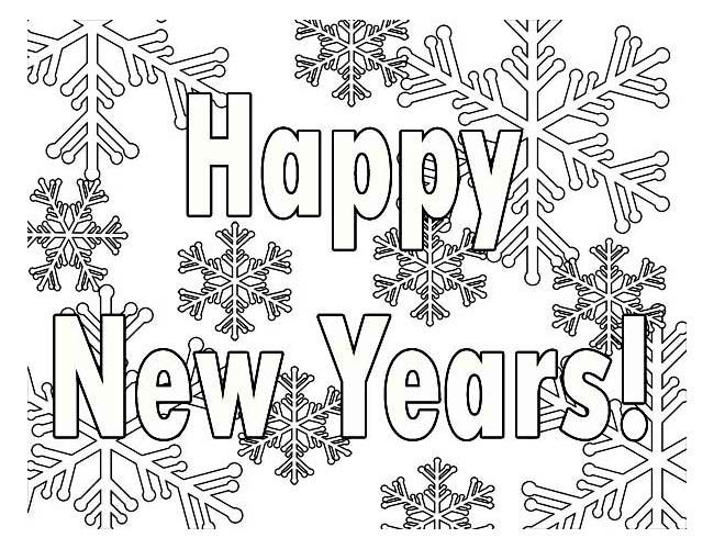 Printable New Years Coloring Pages | Coloring Me