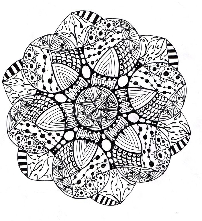 difficult mandala coloring pages - photo#2