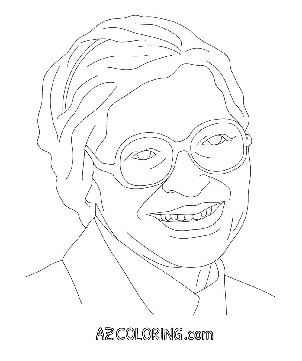 Rosa Parks Coloring Pages Coloring Home