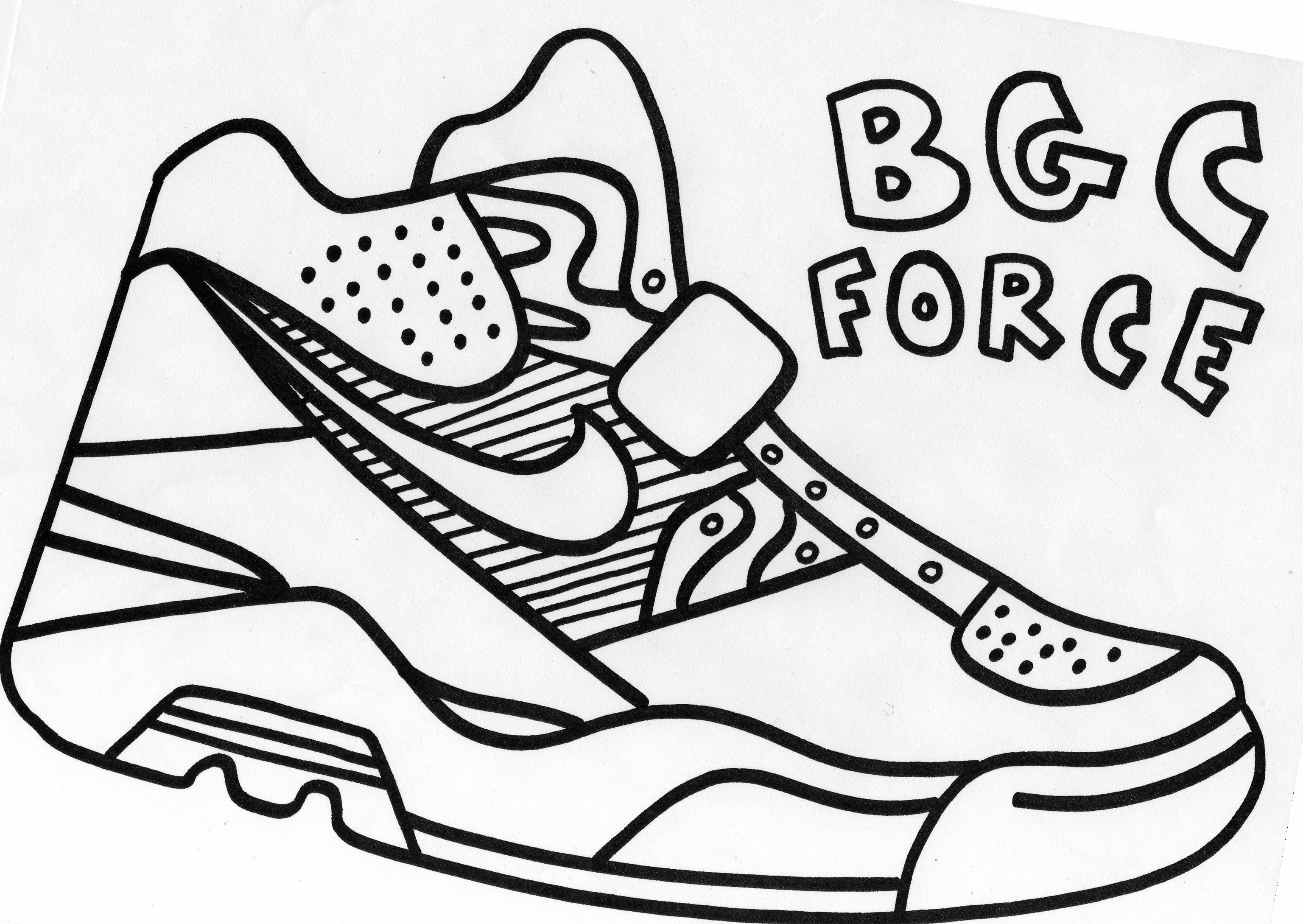 Free coloring pages jordan shoes