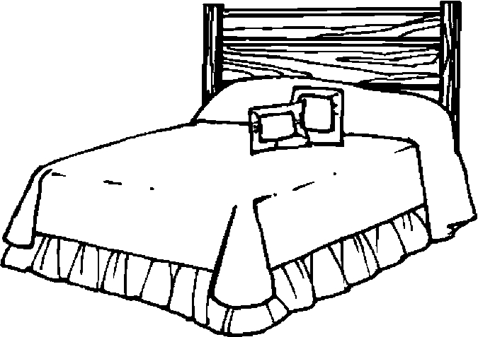 Bedroom Coloring Page Coloring Home