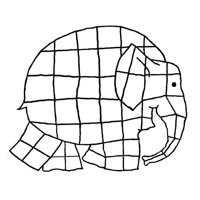 elmer the elephant coloring pages - photo#7