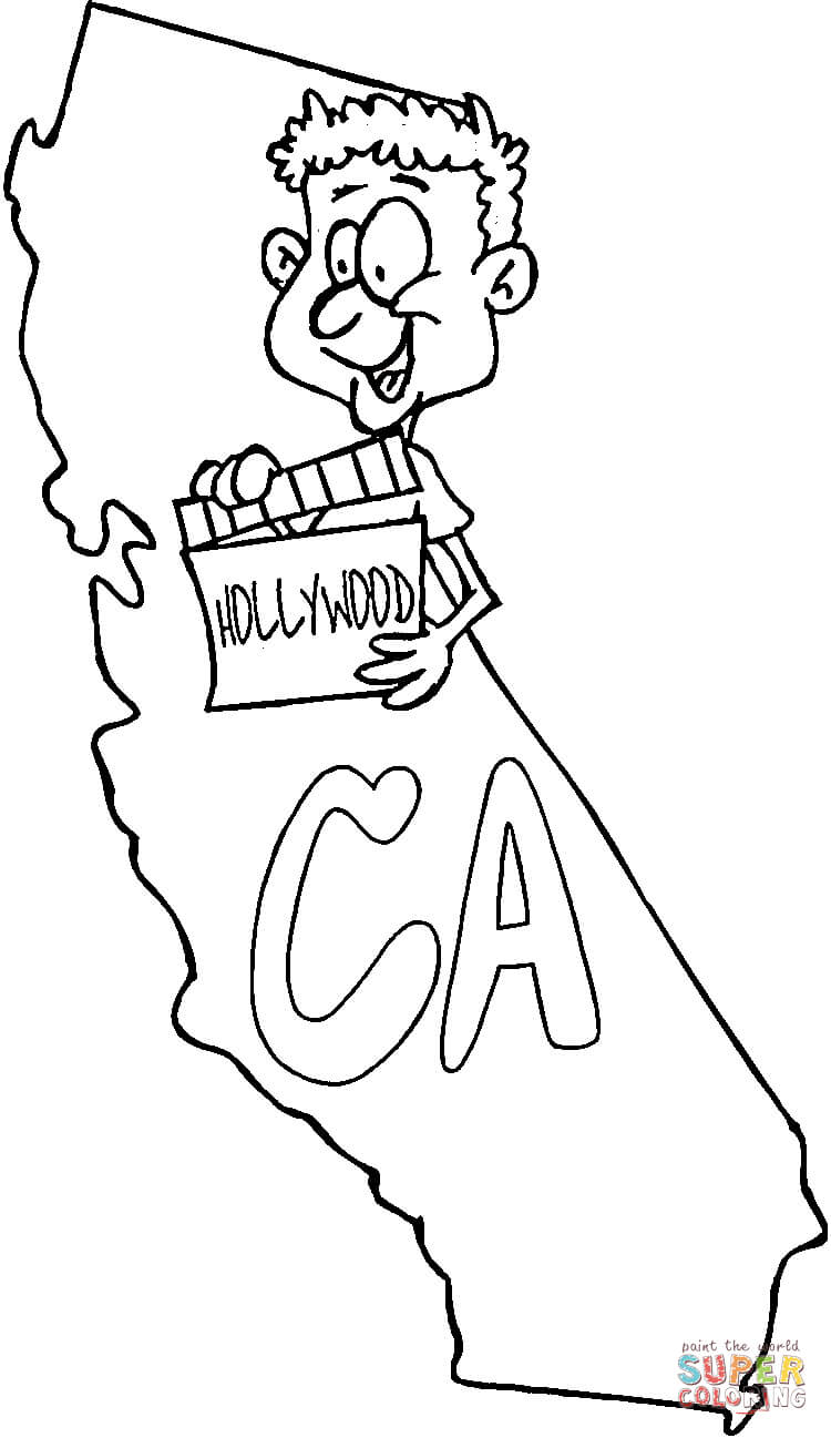 California Map Coloring Page Coloring Home